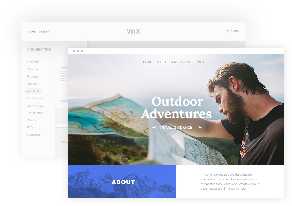 Wix Code, to create data-based Web applications visually