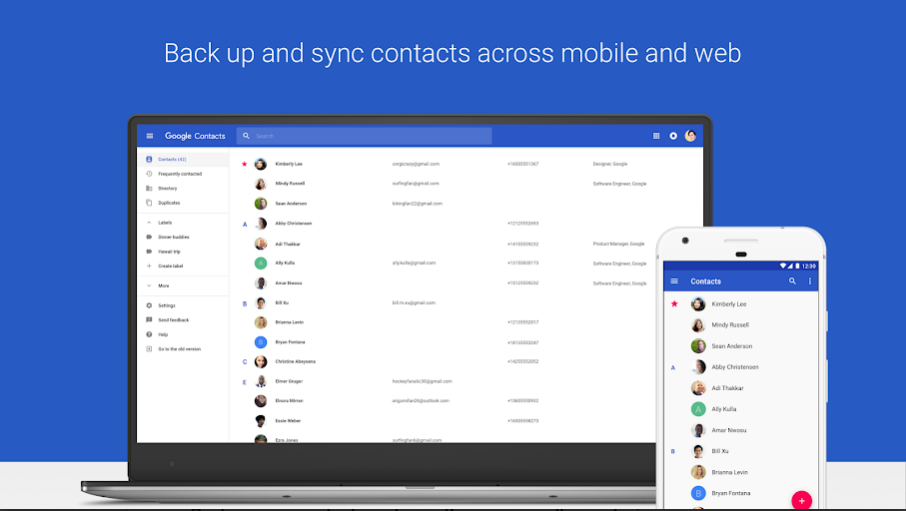 The solution to never lose your mobile contacts: save them all in your Google account