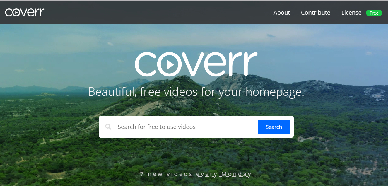 Coverr, free stock videos